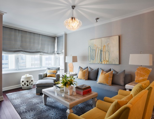 Blue Yellow Color Wall Living Room Colour Combinations Acthere