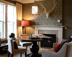 Living Room Becomes A Work Space transitional-living-room