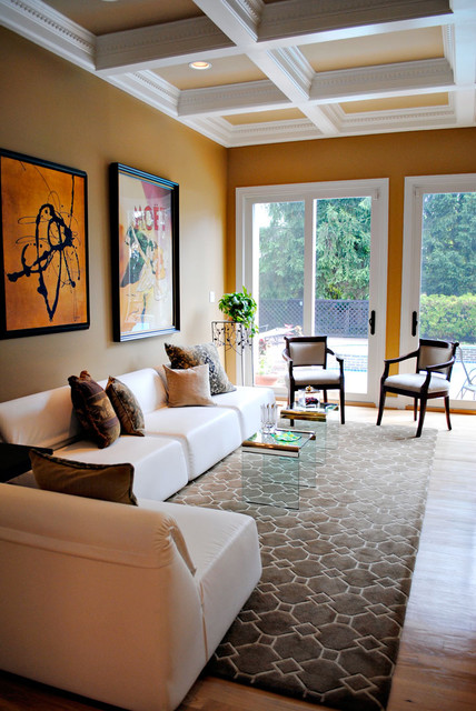 Living room brown cream and gold tones eclectic living room