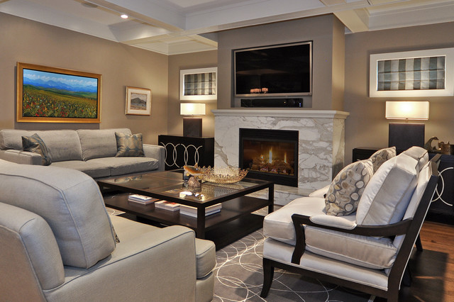 Living Room Transitional Living Room Calgary By Bruce Johnson Associates Interior Design