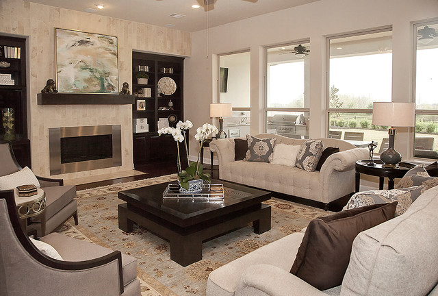 Charming Living Room By Yi Yun Lin, Interior Designer At Star Furniture In Texas  Eclectic