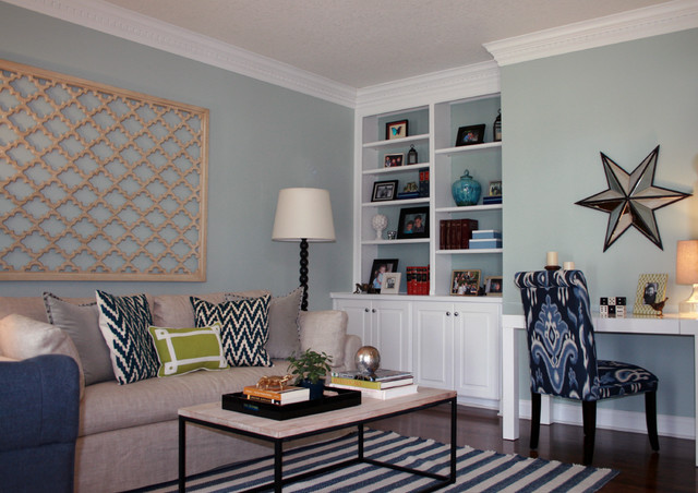Living Room Casul Chic With Vibrant Color Transitional Living Room Other Metro By