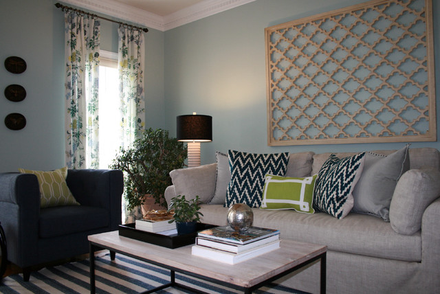 Living Room Casual Chic With Vibrant Color Transitional Living Room Other Metro By
