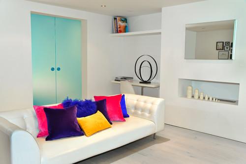 Home interior design 101 bright bold colours clair for Interior designs colours
