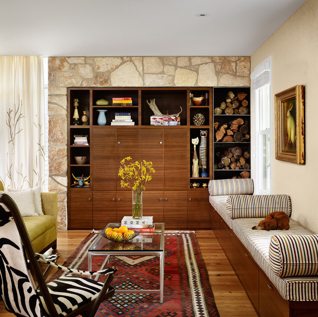 living room midcentury living room austin by chioco design
