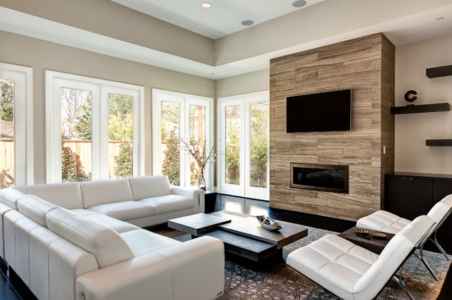 Pine Brook St.- Houston, Tx. - contemporary - living room
