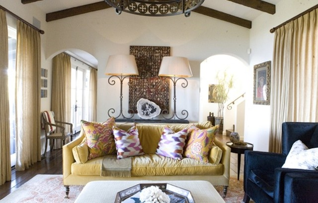 eclectic living room by Bliss Design Firm