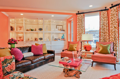 Eclectic living room by jamaica plain interior designers for Jamaican living room designs