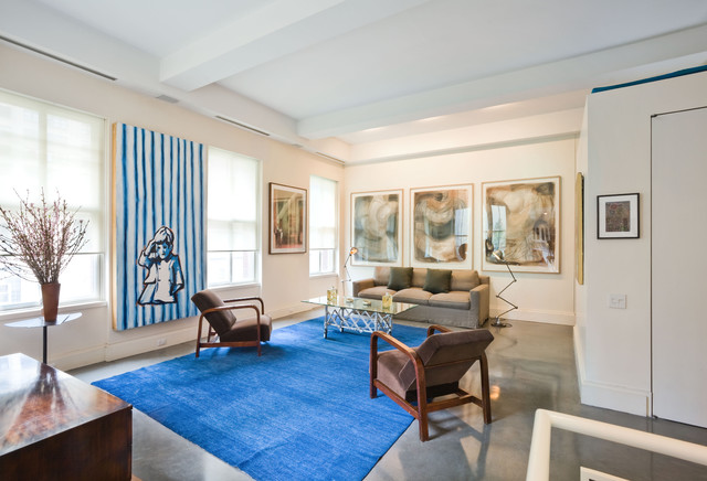 Living Room, Downtown Townhouse, New York City contemporary-living-room
