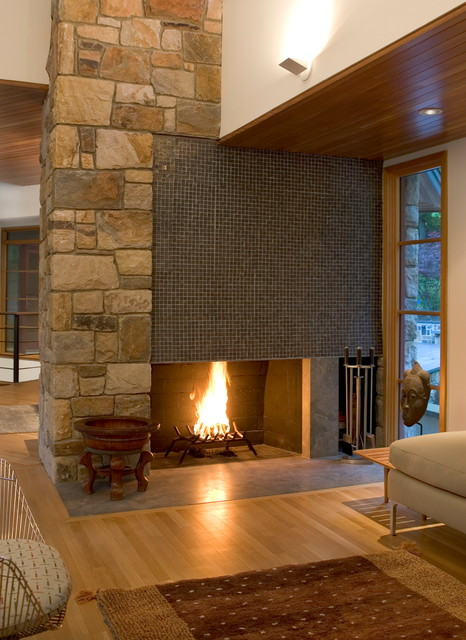 Living Room Fireplace Modern Living Room Philadelphia By Lasley Braha