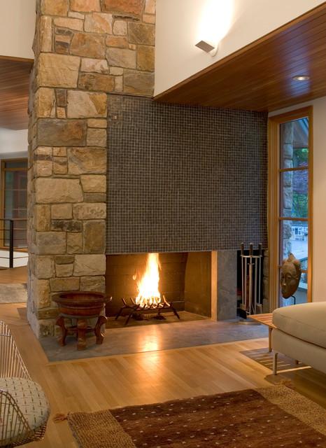 Living Room Fireplace Modern Living Room Philadelphia By Lasley Braha