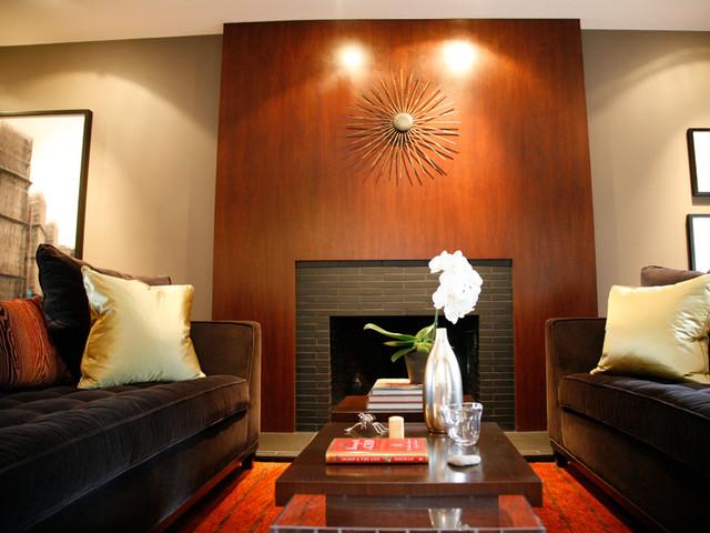 living room fireplace contemporary-living-room