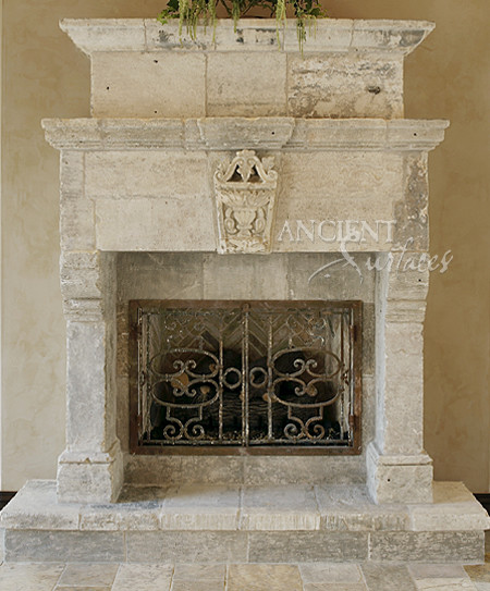 Living Room Fireplaces Mediterranean Living Room New York By Ancient Surfaces