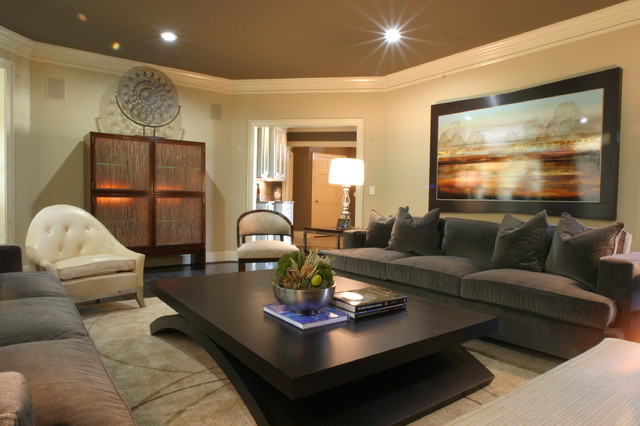 modern living room by Fowler Interiors