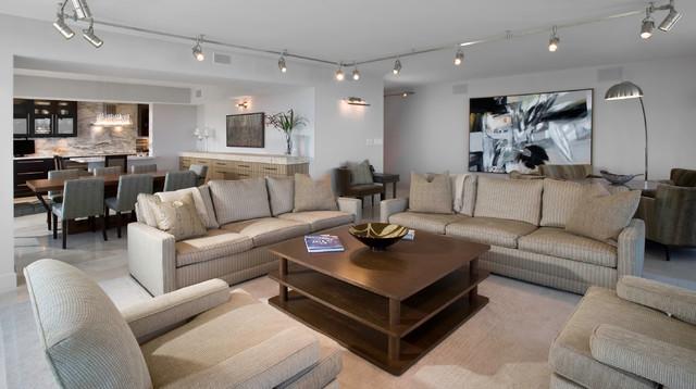 Living Room Contemporain Salon Chicago Par Fredman Design Group