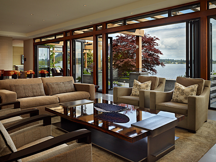 Inspiration for a contemporary living room remodel in Seattle