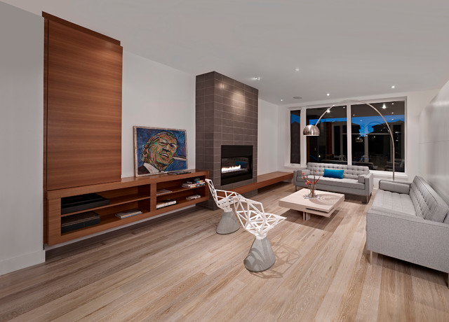 Living Room Contemporary Living Room Edmonton By