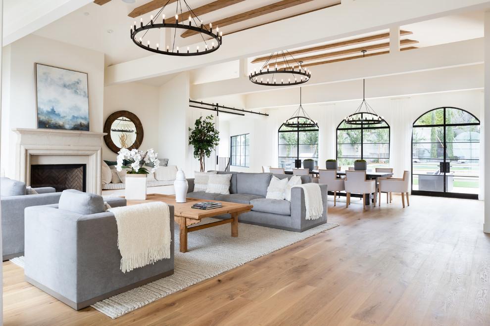 Living Room Hardwood Floors Farmhouse