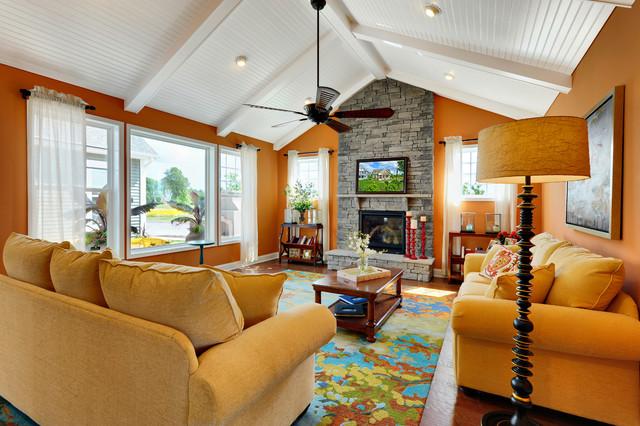 Living Room - Hartford Model Home traditional-living-room