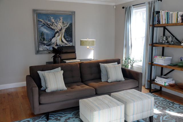 Living Room/Home Office - West Newbury - Contemporary - Living ...