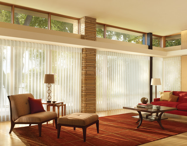 Living room ideas modern living room other metro for 1940s window treatments