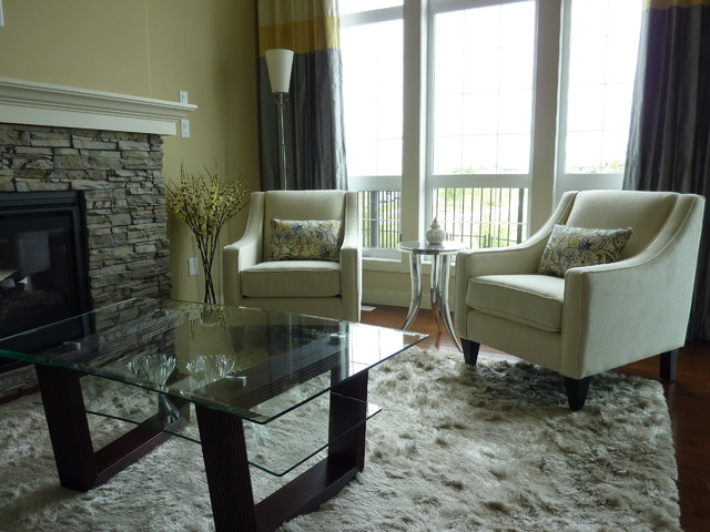 Living Room in Model Home contemporary-living-room