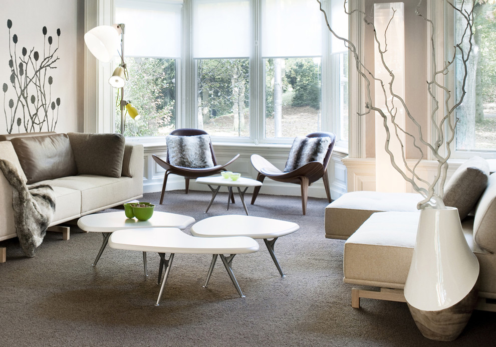 Inspiration for a large contemporary living room remodel in Amsterdam