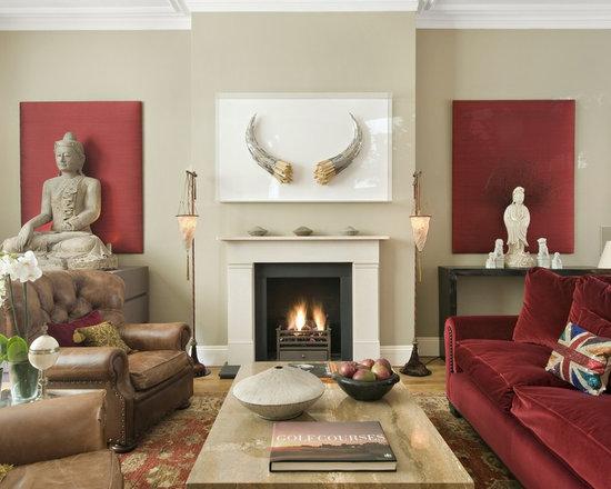 Red amp cream living room beautiful ideas pinterest of 22 for Red and cream living room ideas