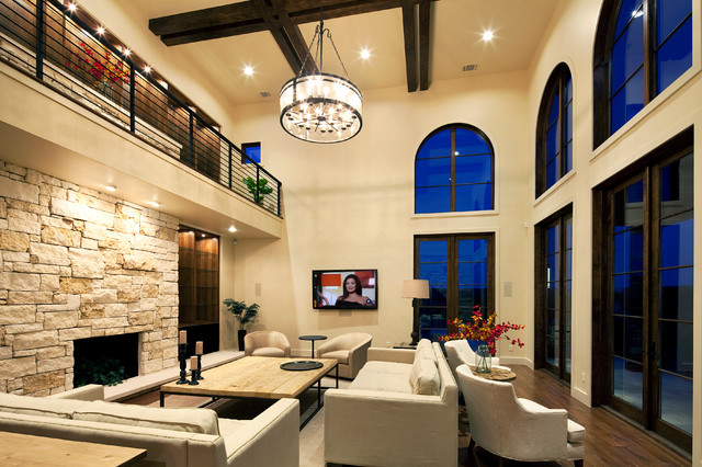 Living room - Mediterranean - Living Room - Austin - by Jenkins ...