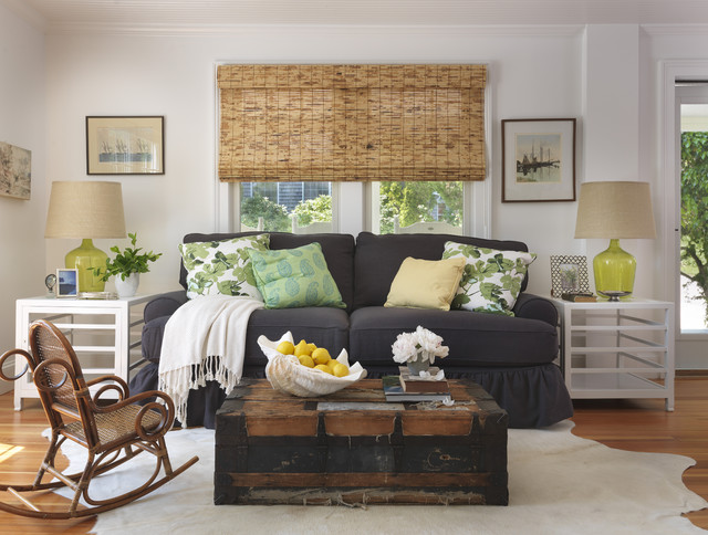 Living Room - Beach Style - Living Room - Providence - by Kate ...