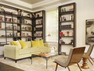 Living room / Library - Transitional - Living Room - San Francisco