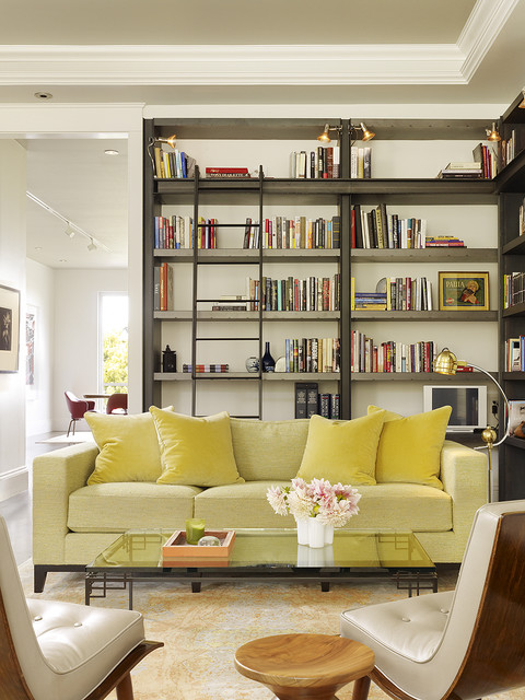 Remarkable Living Room Library Transitional Living Room San Francisco Largest Home Design Picture Inspirations Pitcheantrous