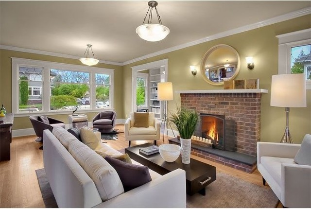 Capitol Hill contemporary-living-room