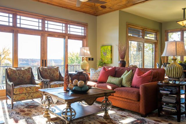 Living room makover craftsman living room kansas for Interior designs by rhonda