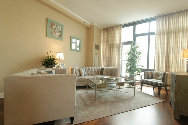 Before and after living room for Salon classique chic