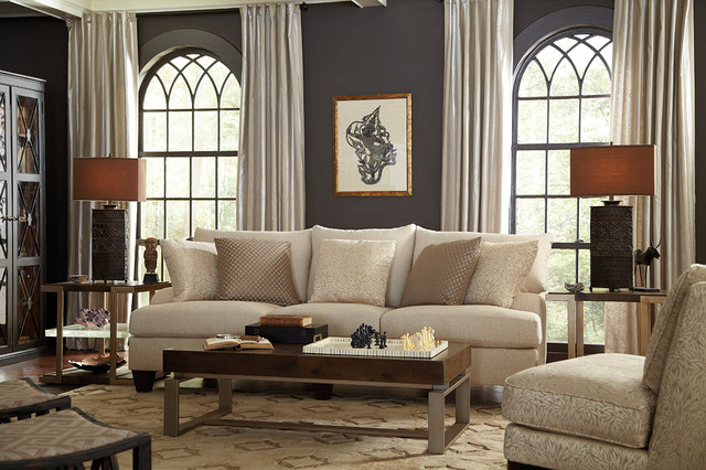 Living Room Neutral And Eclectic With Brooke Sofa Eclectic