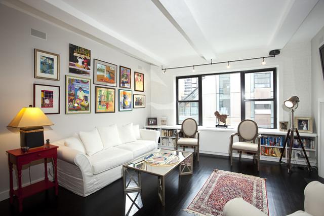 Living room new york city west village loft luxury for Modern new york living room