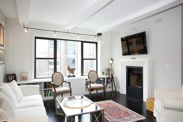 Living room new york city west village loft luxury for W living room new york
