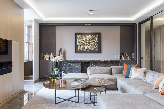Contemporary Homes Houzz Tour Understated Luxury In A London Flat