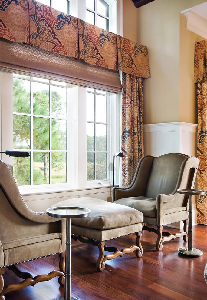 Elegant living room library photo in Charleston