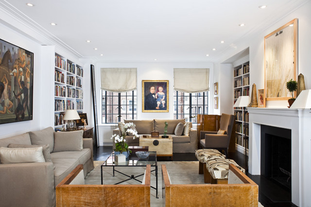 Living room - NYC Upper West Side pre-war coop luxury renovation
