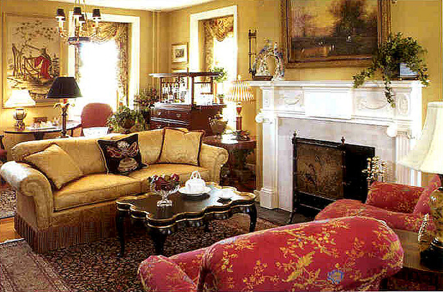 Living Room of Allentown Designer Showhouse with rugs by Brandon Oriental  Rugs traditional living