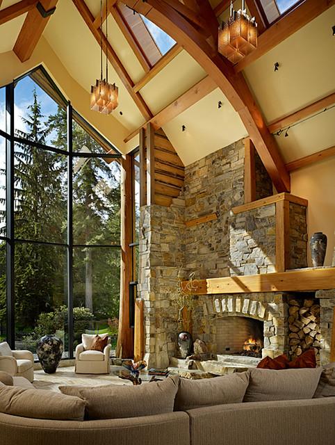 Living Room of Cedar Haven Home contemporary-living-room