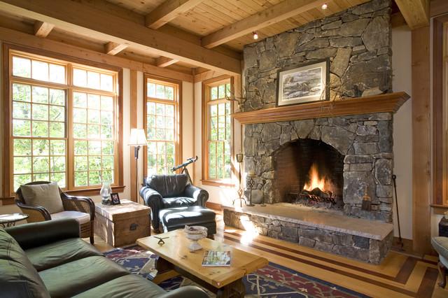 Living Room Of Custom Post Amp Beam Home Near Albany Ny