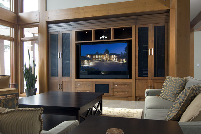 Living room - Modern - Living Room - Vancouver - by Old World Kitchens & Custom Cabinets