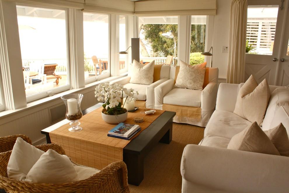 Elegant living room photo in Santa Barbara