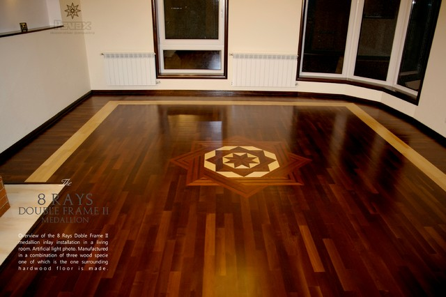 Living Room Parquet Flooring Traditional