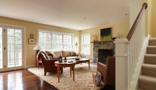Traditional Living Room by South Burlington Design-Build Firms Peregrine Design Build