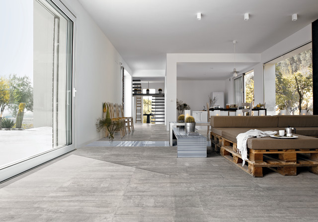 Living Room Porcelain Tiles Modern Living Room: black tile flooring modern living room