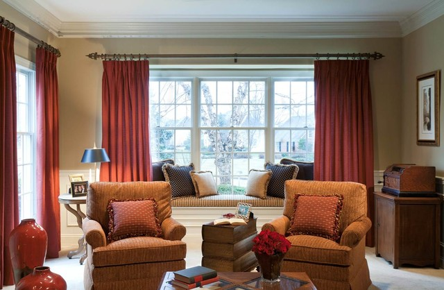 Living room redesign bay window traditional living for Living room picture window ideas